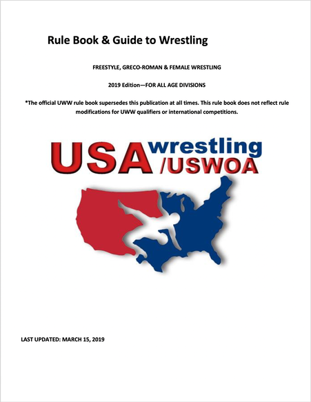 USAW 2019 Rulebook Cover